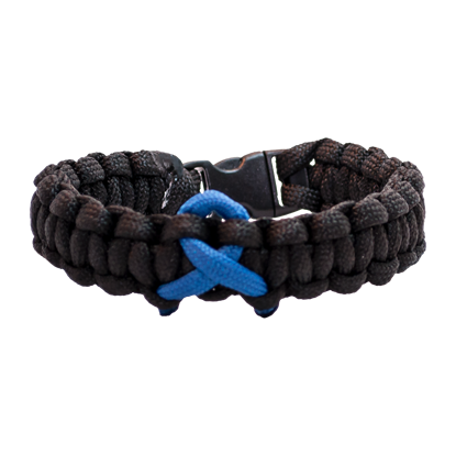 Picture of Child Abuse Awareness Bracelet - Cobra Weave - Plastic Clasp