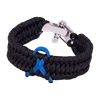 Picture of Child Abuse Awareness Bracelet - Boa Weave - Shackle Clasp