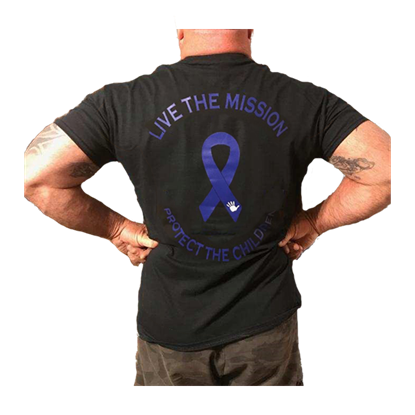 Picture of Child Abuse Awareness T Shirt - Protect The Children - Live The Mission - Men's
